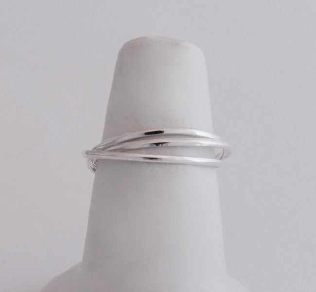Stackable Adjoined Triple Ring