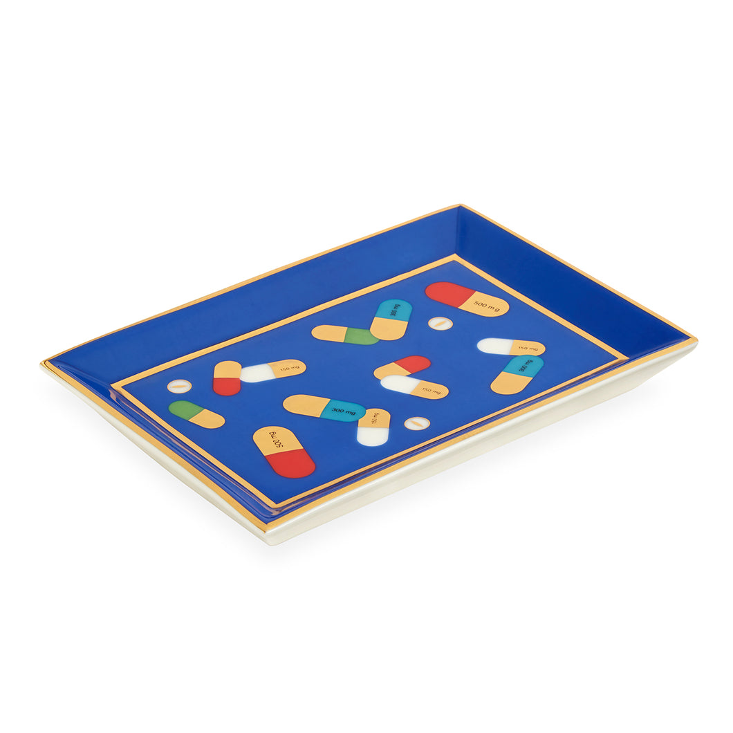 Full Dose Rectangle Tray- Blue