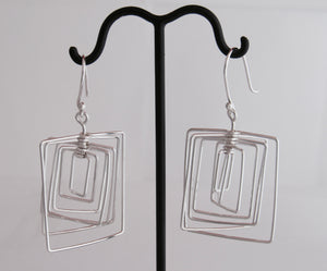 Spinning Squares Earrings