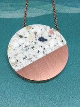 Corian Sector Necklace- Terrazo