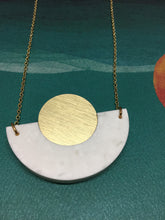 Corian Arc Circle Necklace- Winter