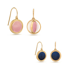 Earrings- Reversible Rose & Midnight Drops