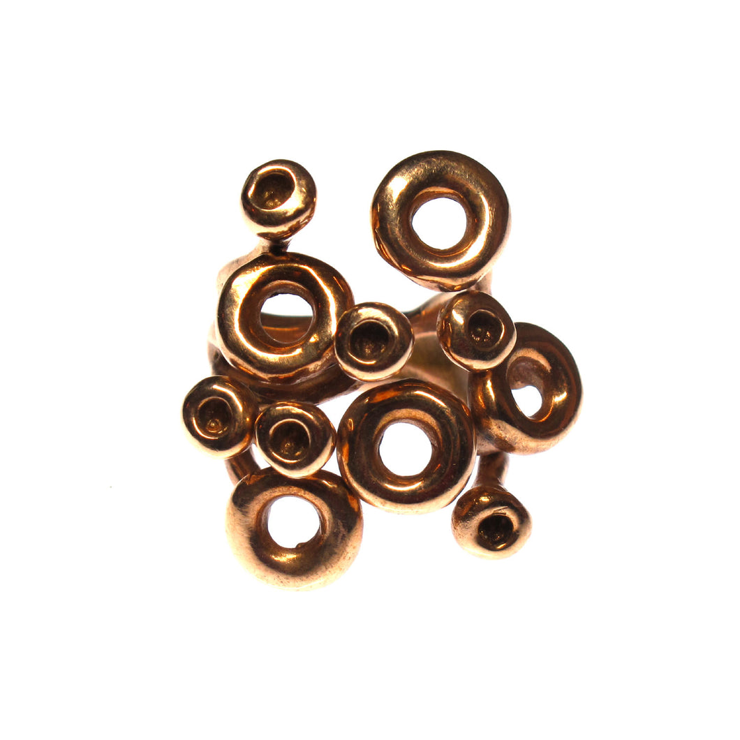 Ring Bronze Mid Century Circles