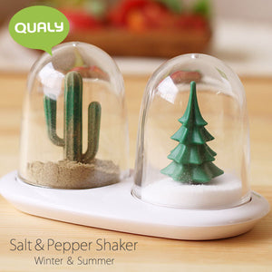 Winter Summer Salt & Pepper Shaker Set