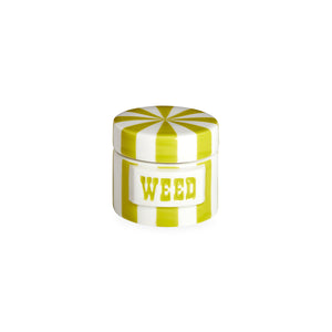 Vice Canister- Weed- Lime/White