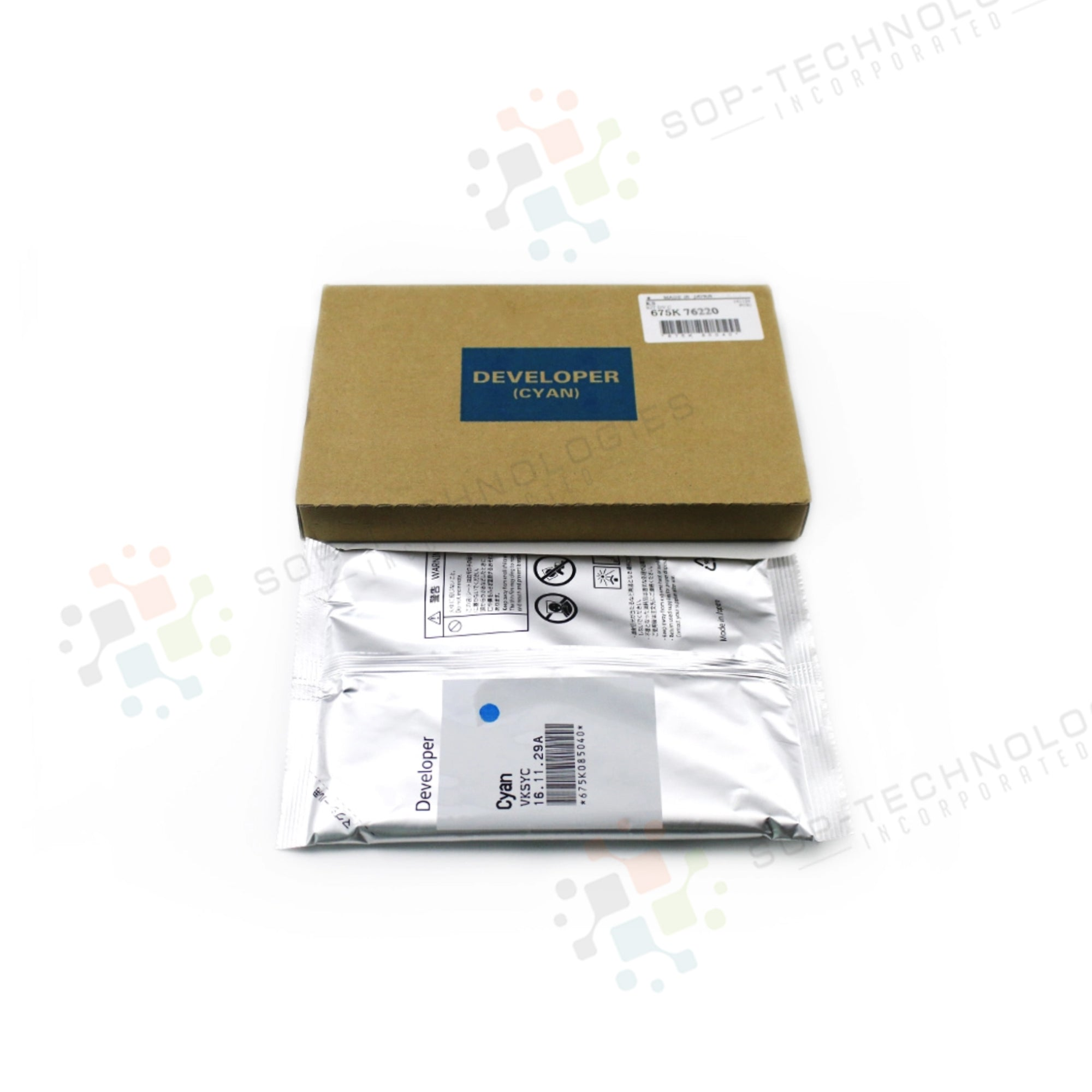 Original Xerox Color 550/560/570/700/700i DC  Developer Cyan 675K76220 - SOP-TECHNOLOGIES, INC.