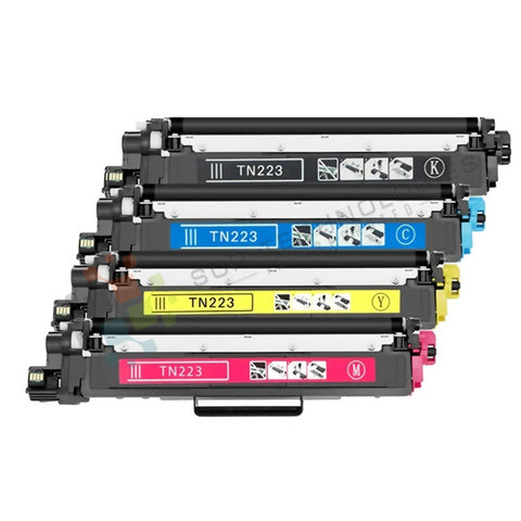 4 Pack Compatible Toner Set for Brother TN-223 (CMYK) - (Chip not required)