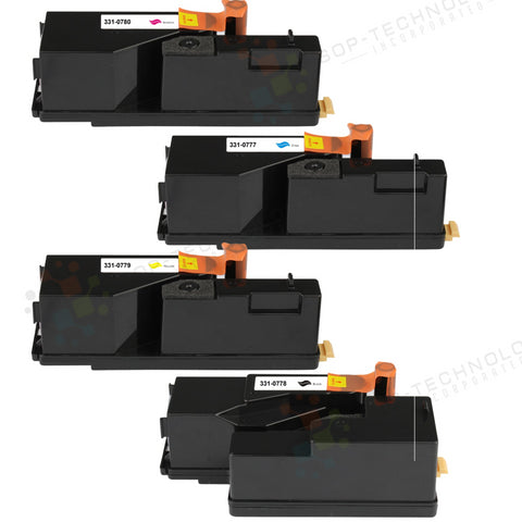 4 Pack Toner Cartridges Replacement for Dell 1250C