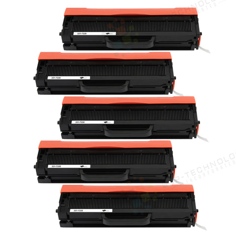 5 Pack Compatible Toner Cartridge Replacement for Dell B1160