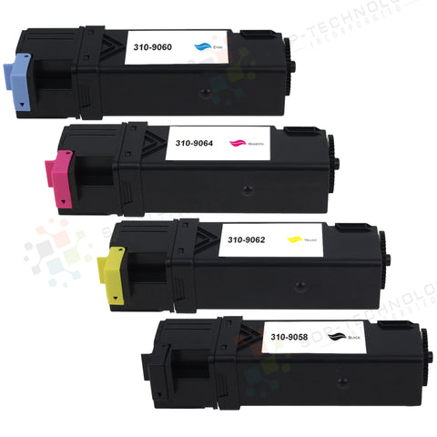 4 Pack Compatible Toner Cartridge for Dell Color Laser Printer1320