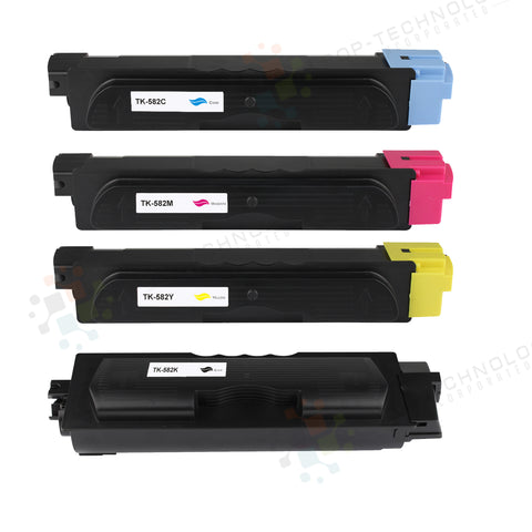 4 Pack Compatible Toner Cartridge Replacement for Kyocera FS-C5150DN
