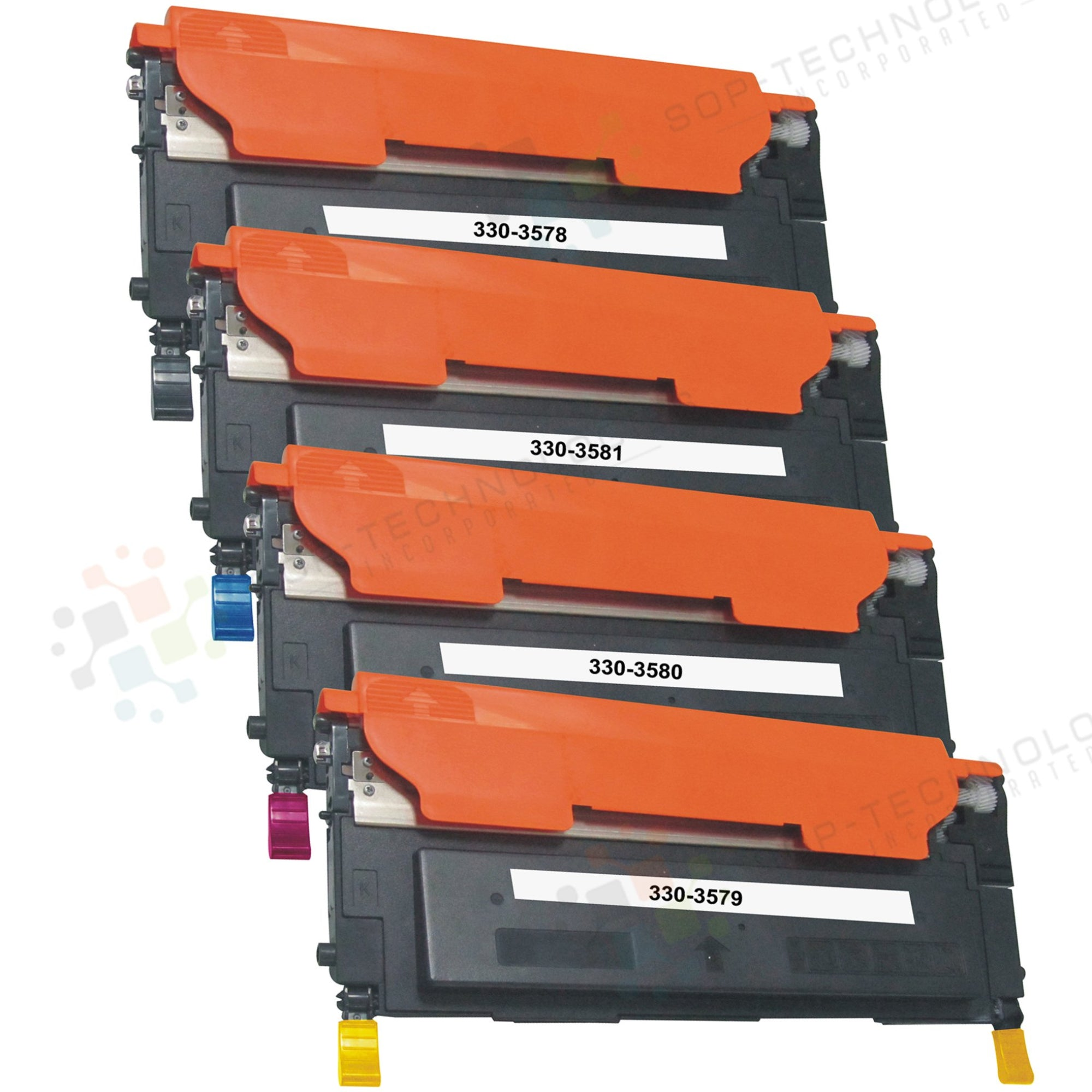 4 Pack Toner Cartridge for Dell 1230C - SOP-TECHNOLOGIES, INC.