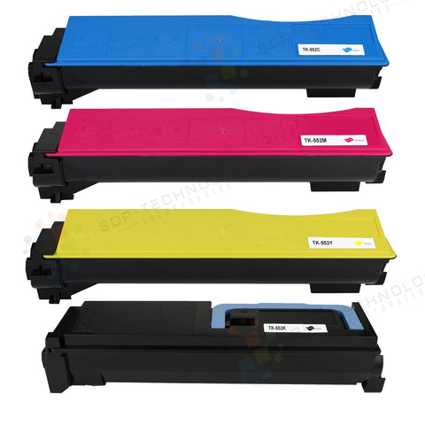 4 Pack Compatible Toner Cartridge Replacement for Kyocera FS-C5100DN