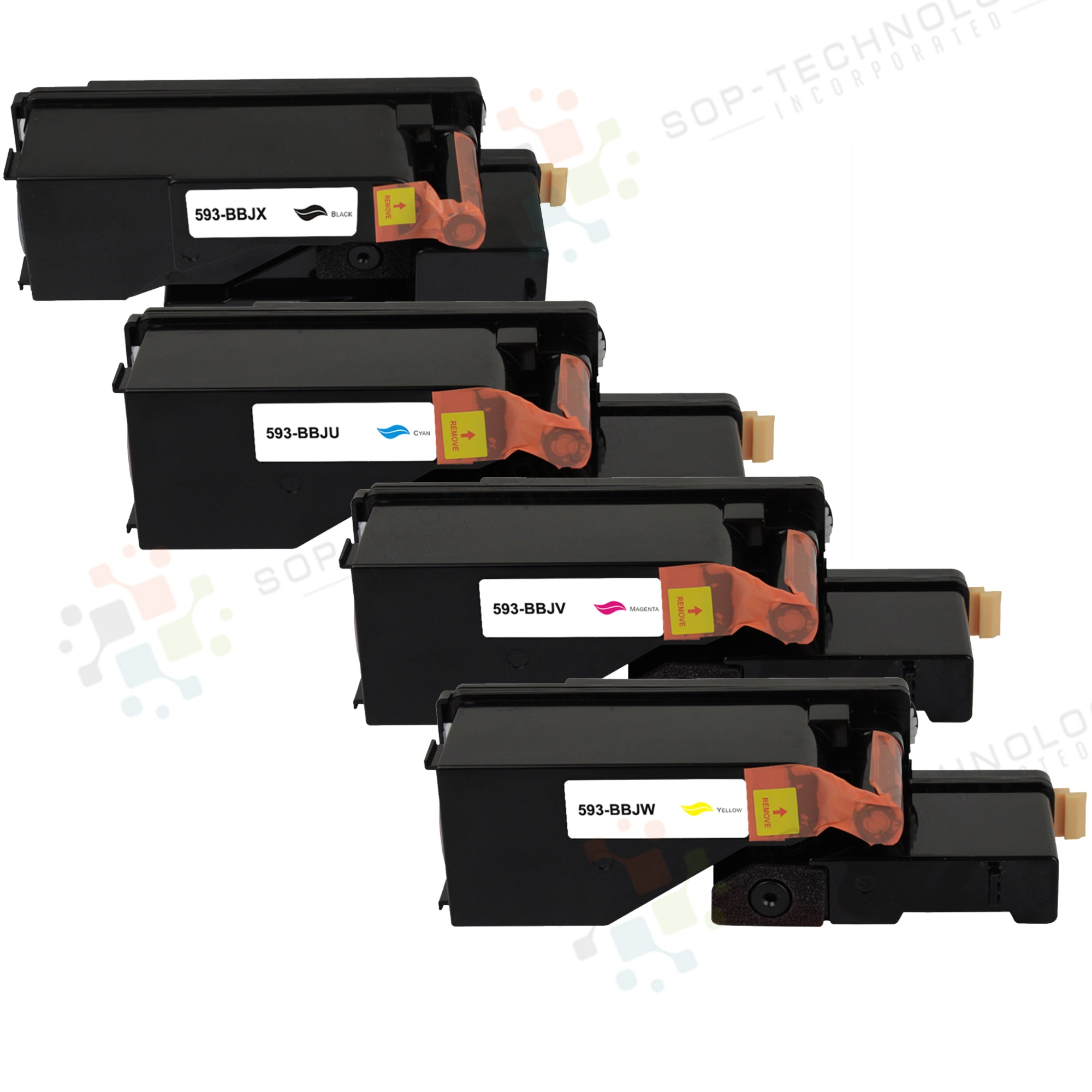 4 Pack Compatible Toner Cartridge Replacement for Dell E525W - SOP-TECHNOLOGIES, INC.