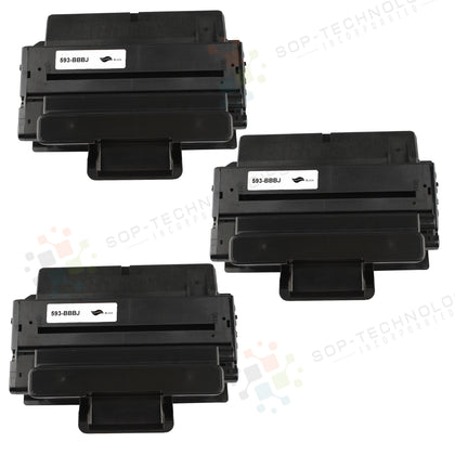 3 Pack Compatible Toner Cartridge Replacement for Dell B2375dnf - SOP-TECHNOLOGIES, INC.