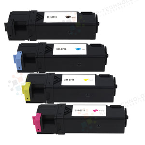 4 Pack Compatible Toner Cartridge for Dell 2150