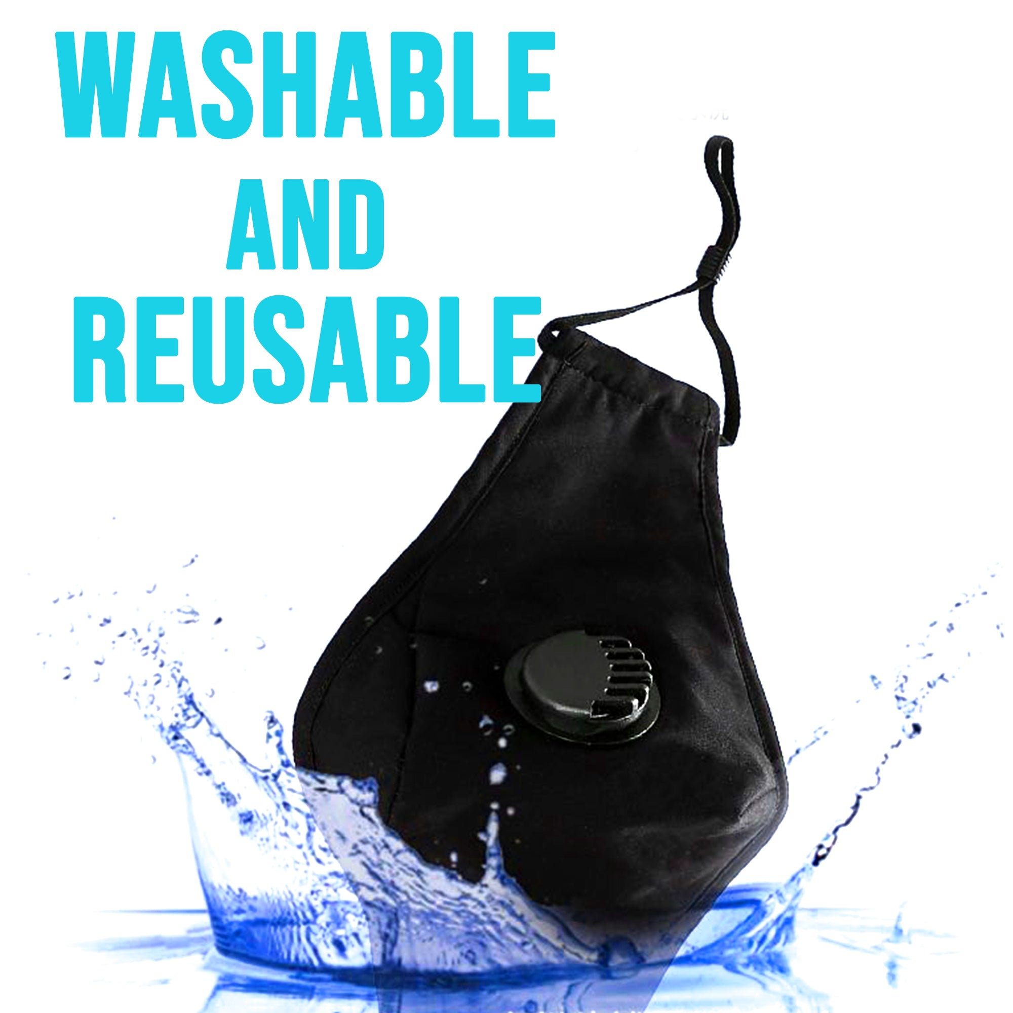 3D Cotton  Washable Face Mask with Filter Pocket w/ 3 filters - SOP-TECHNOLOGIES, INC.