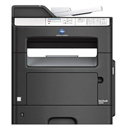 OEM KONICA MINOLTA BIZHUB 3320 (A6WP011) 35 PPM MONOCHROME, PRINTER, PRINT, COPY, SCAN, FAX, STARTER TONER, K=2.5K YIELD - SOP-TECHNOLOGIES, INC.