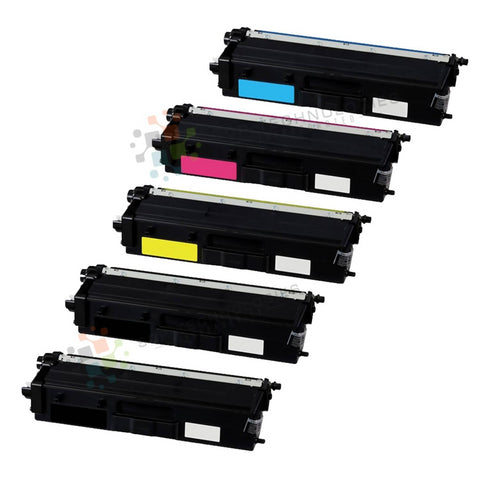 5pk Compatible Toner Cartridge Replacement for Brother TN-433 (CMYKK)