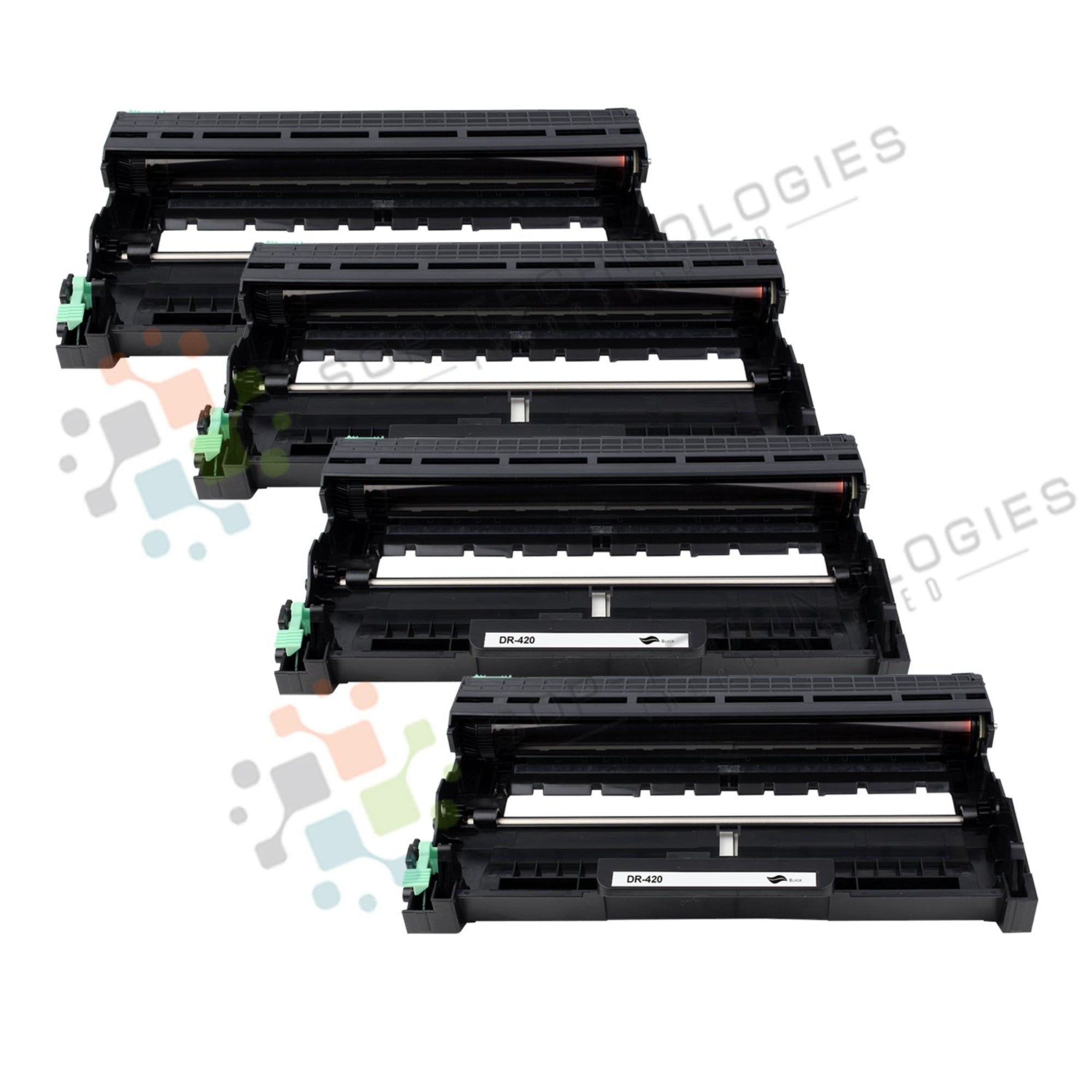 4 Pack DR-420 Replacement Drum Unit for Brother (Black Only)