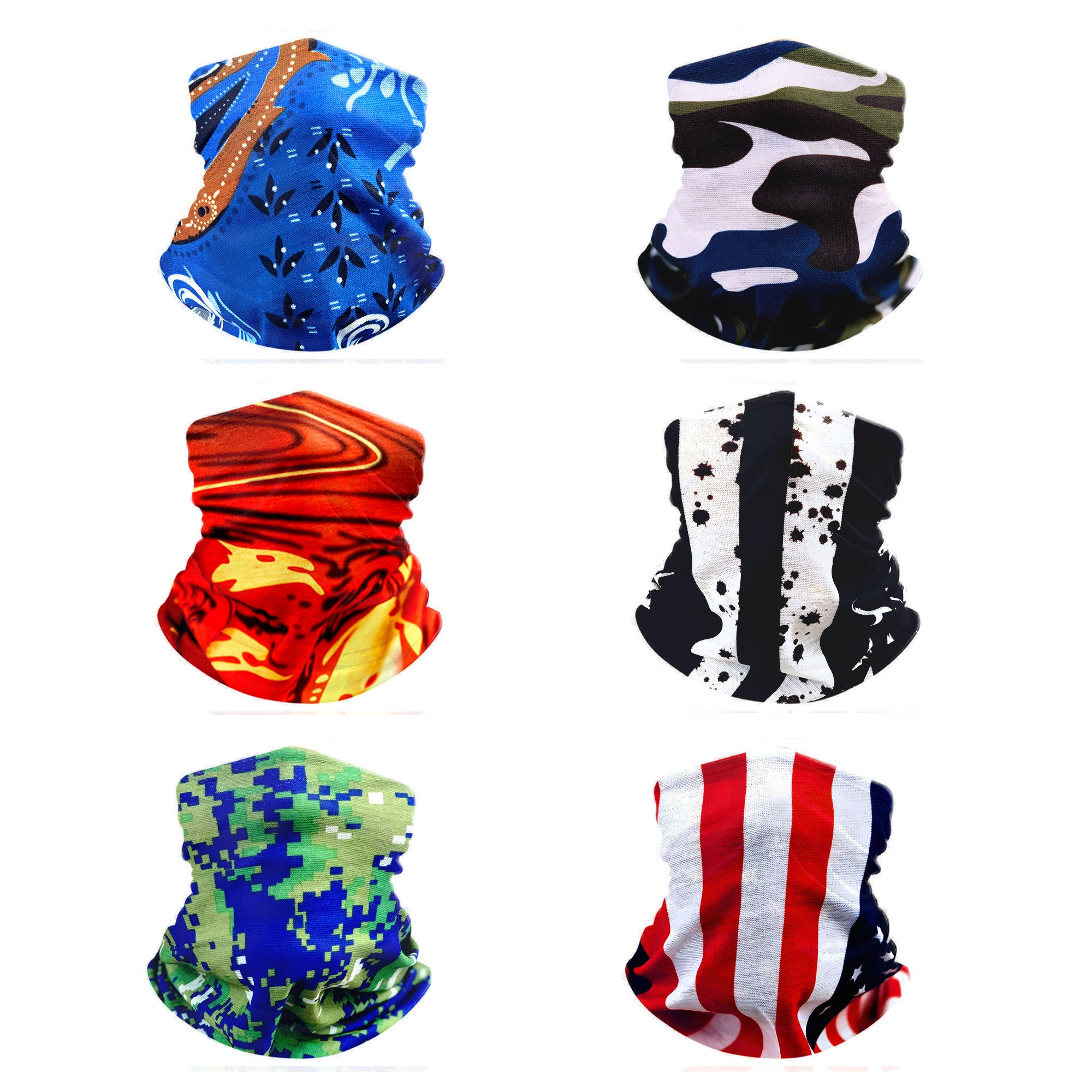 6PC Bandana Set