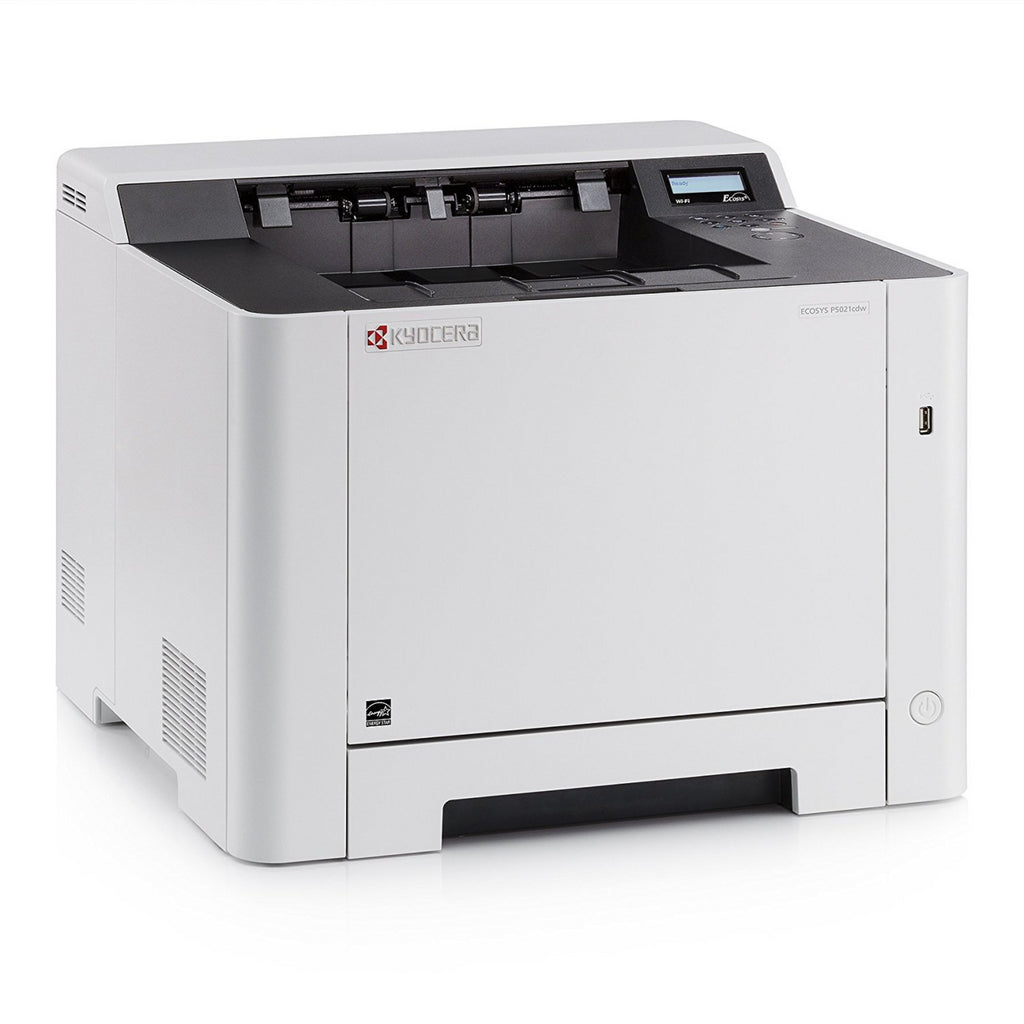 OEM KYOCERA MITA P5021CDW (1102RD2US0) 22 PPM COLOR, PRINTER, PRINT, DUPLEX, NETWORK, START UP TONER, K=1.2K YIELD, CMY=1.2K YIELD
