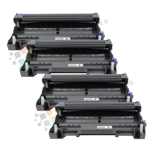 4 Pack DR-520 Replacement Drum Unit for Brother (Black Only)