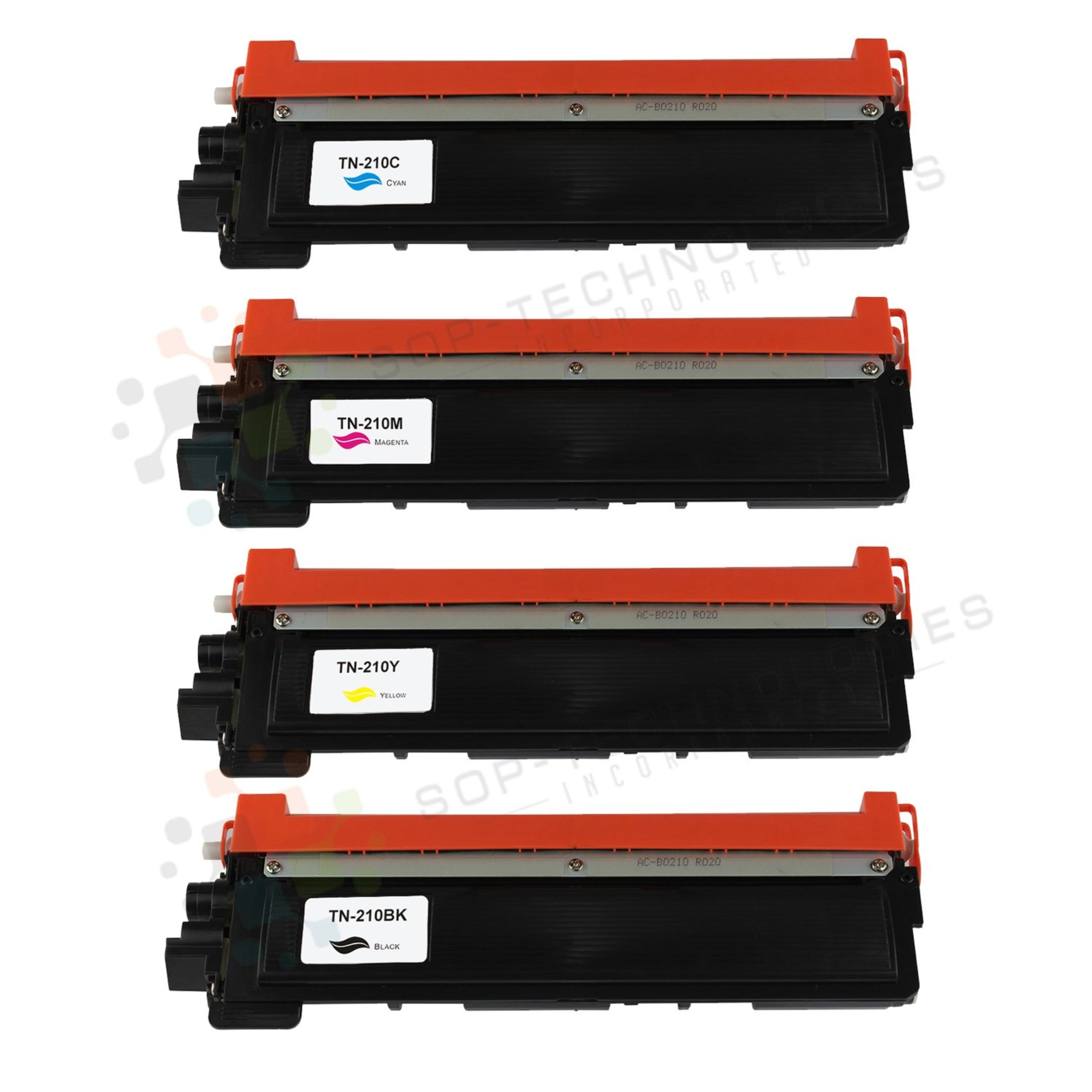 4pk TN-210 Compatible Toner Cartridge Replacement for Brother HL-3040CN-CMYK