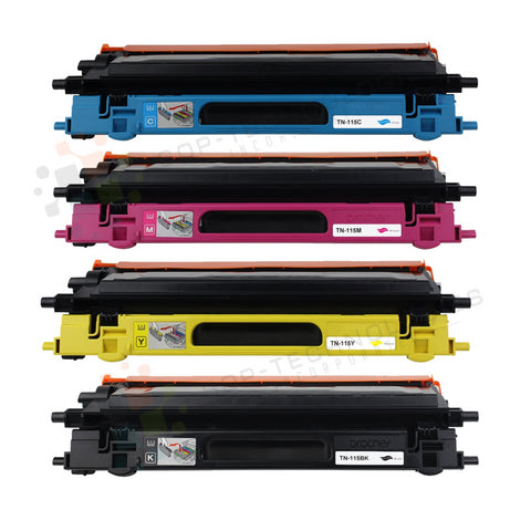 4 Pack TN115 Toner Cartridge for Brother HL-4040CN-CMYK