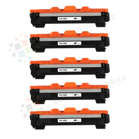 5pk Toner TN1060 TN-1060 Premium Black Compatible Toner Cartridge  Unit Replacement for Brother