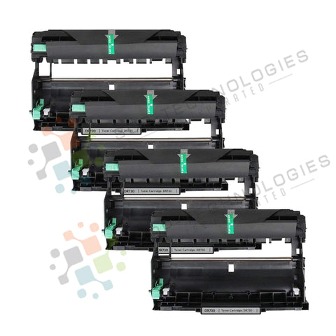 4 Pack DR-730 Replacement Drum Unit for Brother (Black Only)