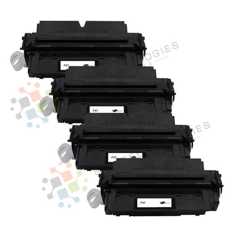 5 Pack FX7 Replacement Toner for Canon (Black Only)
