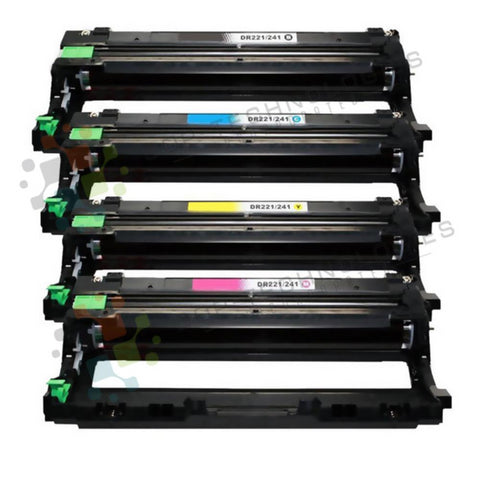 4 Pack (CMYK) DR-221CL Replacement Drum Unit for Brother