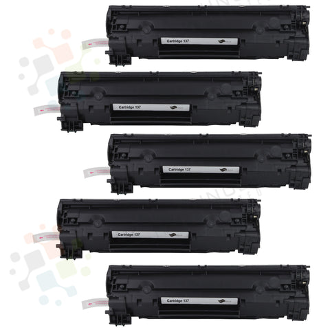 5pk Canon 137 Compatible Toner Cartridge for Canon