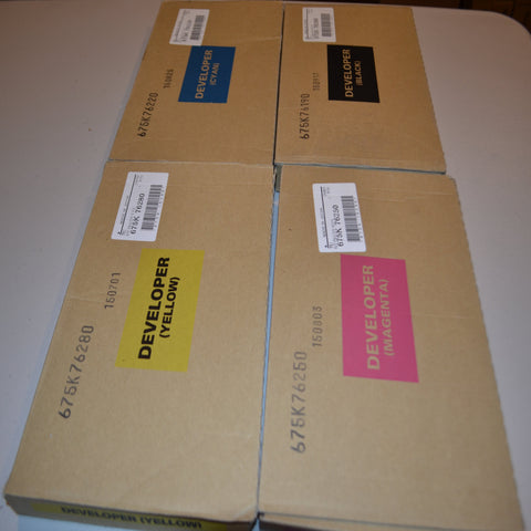 4 Pack Original Xerox DC 240/250/260  CMYK  Developer 675K17990