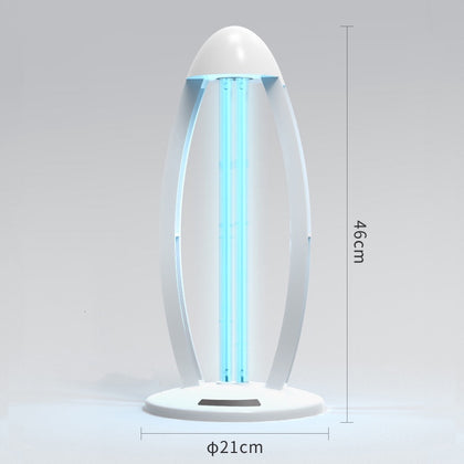 Sterilization Lamp - Portable UV Disinfection Deodorizer Sterilizer, Air Sanitizer Purifier with Remote Control & Lamp Base for Car Household, Wardrobe Bedroom with Ozone