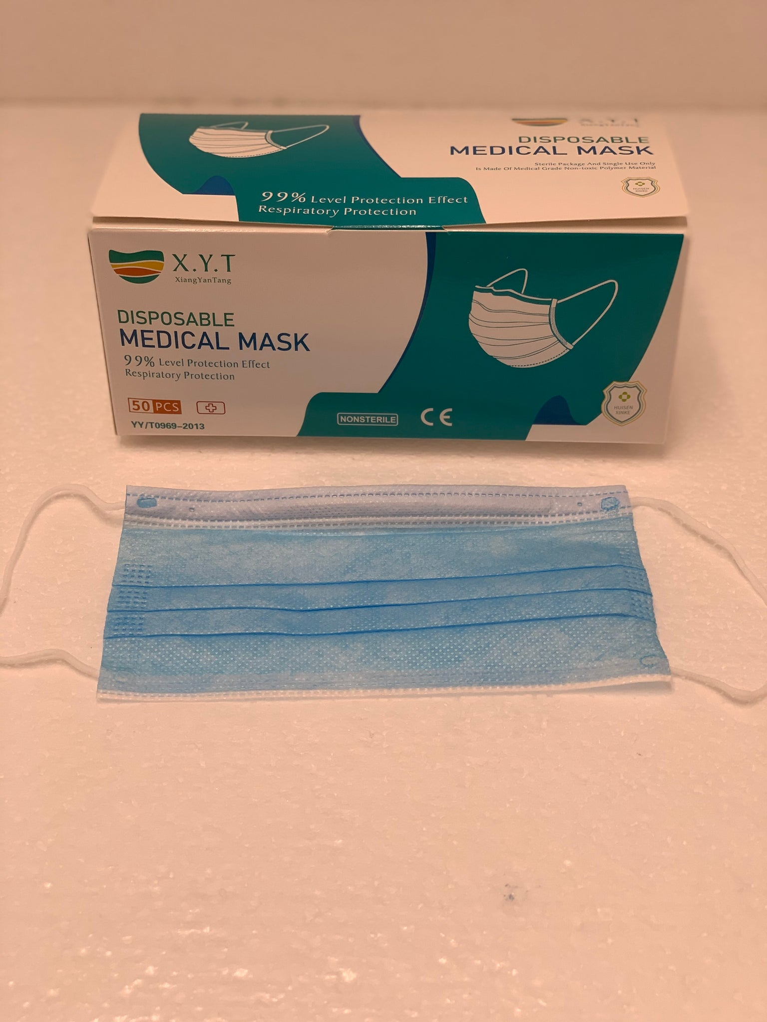 50 Piece Surgical Masks (Certified YY/T 0969-2013)