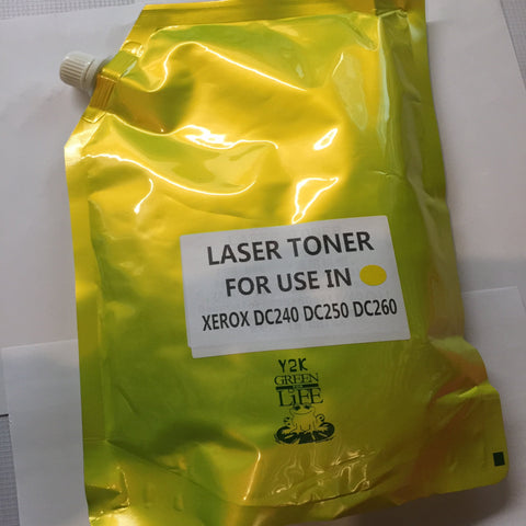 Xerox DocuColor 240, 242, 250, 252, 260 TONER POWDER, Refill+Chip YELLOW