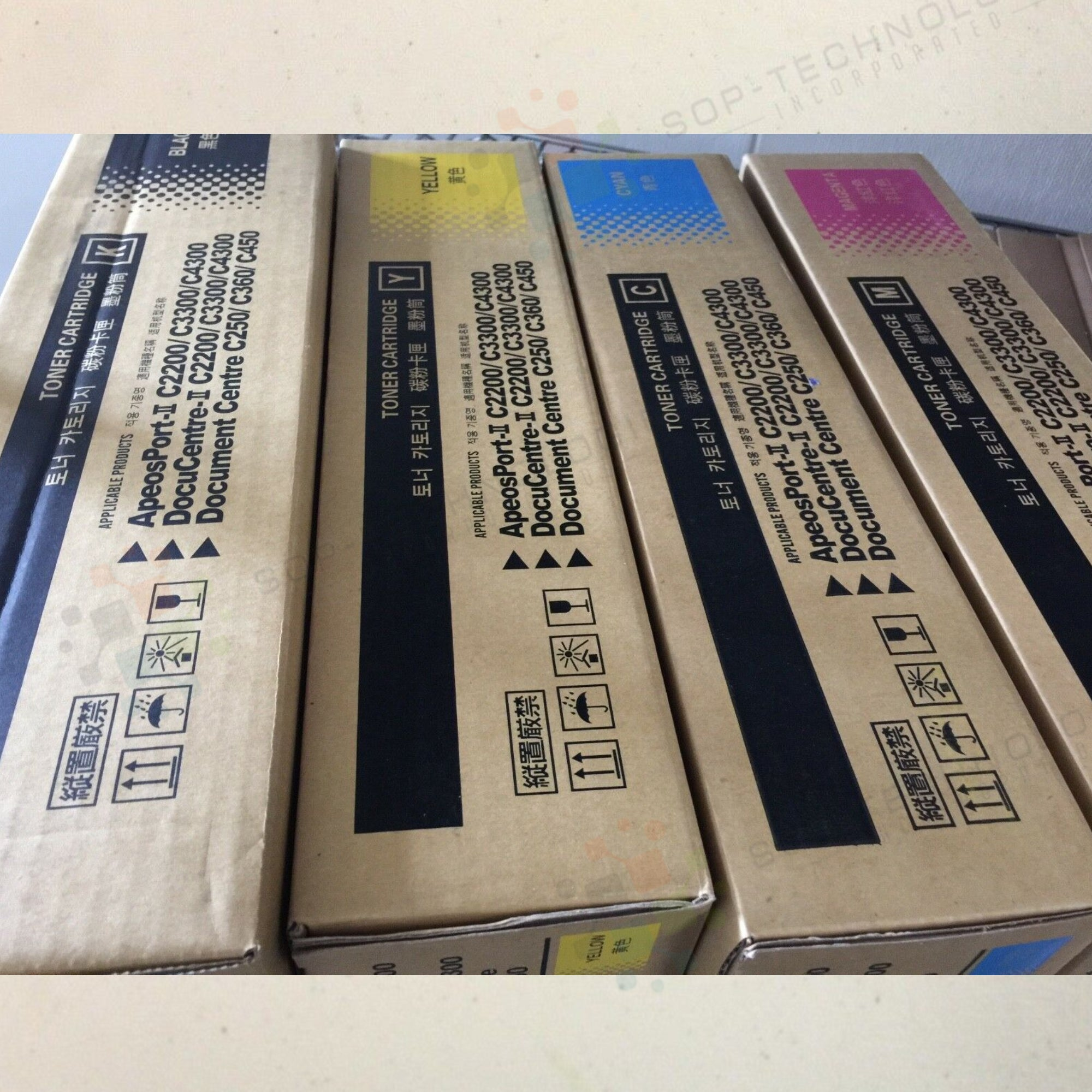 4 Pack for Xerox DocumenCentre C250 C360 C450 Toner Cartridges - SOP-TECHNOLOGIES, INC.