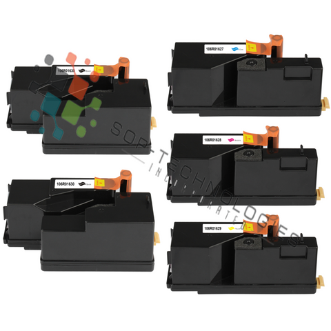 5pk Toner Cartridge for Xerox Phaser 6000 6010 WorkCentre 6015 CMYKK NON-OEM