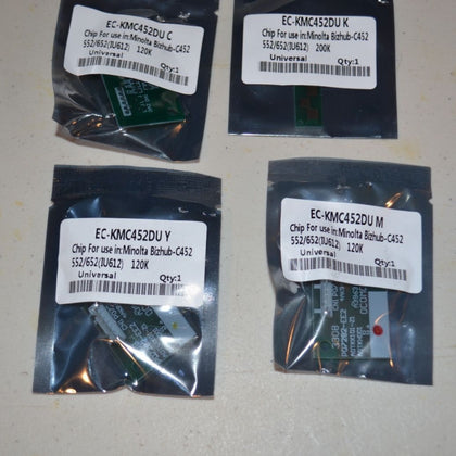 4 Imaging Drum Chip Refill for Konica Minolta Bizhub C452, C552, C652 (IU-612) - SOP-TECHNOLOGIES, INC.