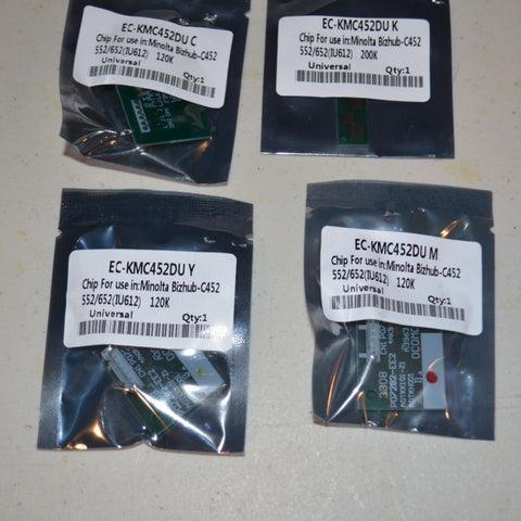 4 Imaging Drum Chip Refill for Konica Minolta Bizhub C452, C552, C652 (IU-612)