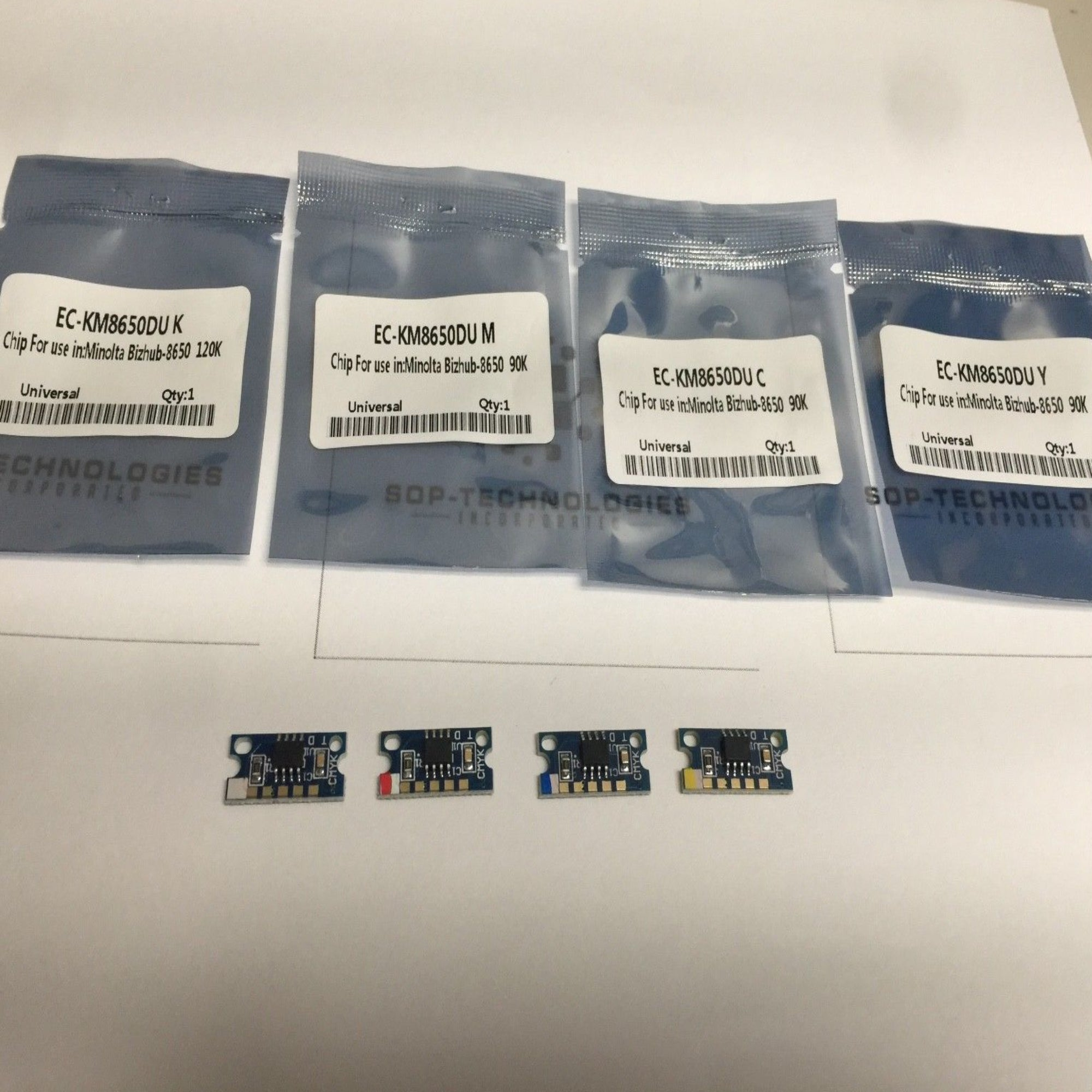 4 x Imaging Drum Chip for Konica Minolta Magicolor 8650, 8650dn, 8650hdn - SOP-TECHNOLOGIES, INC.