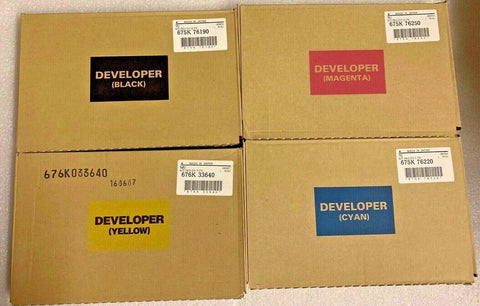 4 Pk Original Xerox Color 550/560/570/700/700i DC  Developer CMYK 675K76280