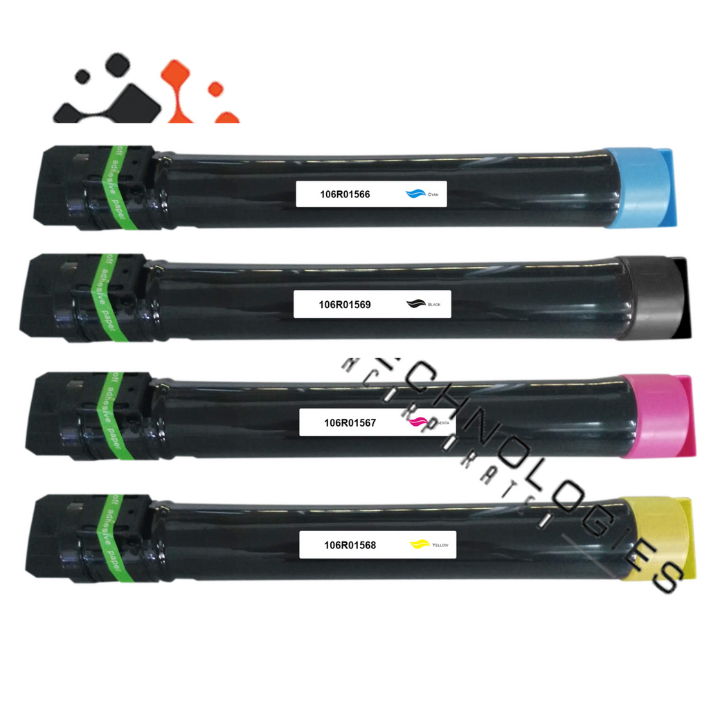 4 Pack Toner Set for Xerox Phaser 7800 7800DN 7800DX 7800GX 106R01566-69