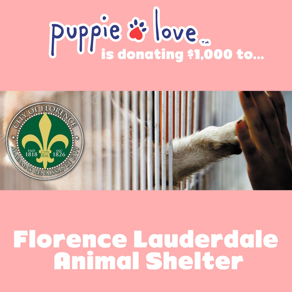 Puppie Love™ donates to the Florence-Laurderdale Animal Shelter!