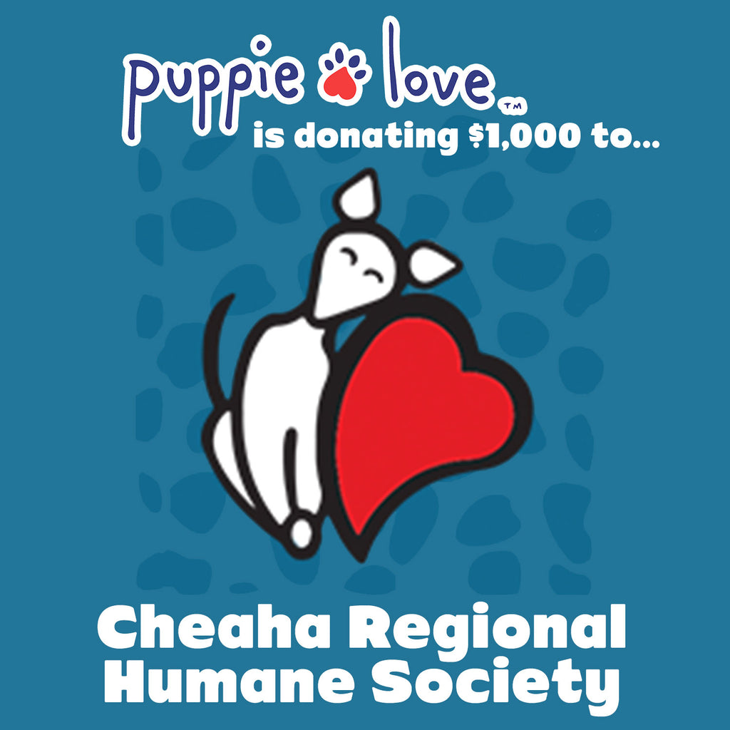 Puppie Love™ donates to Cheaha Regional Humane Society!