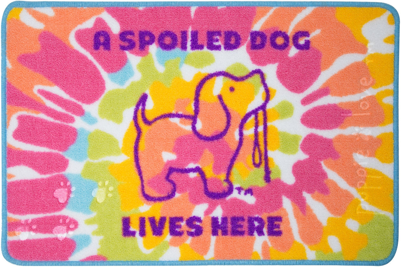 TIE DYE #2 PUP FLOOR MAT - Puppie Love