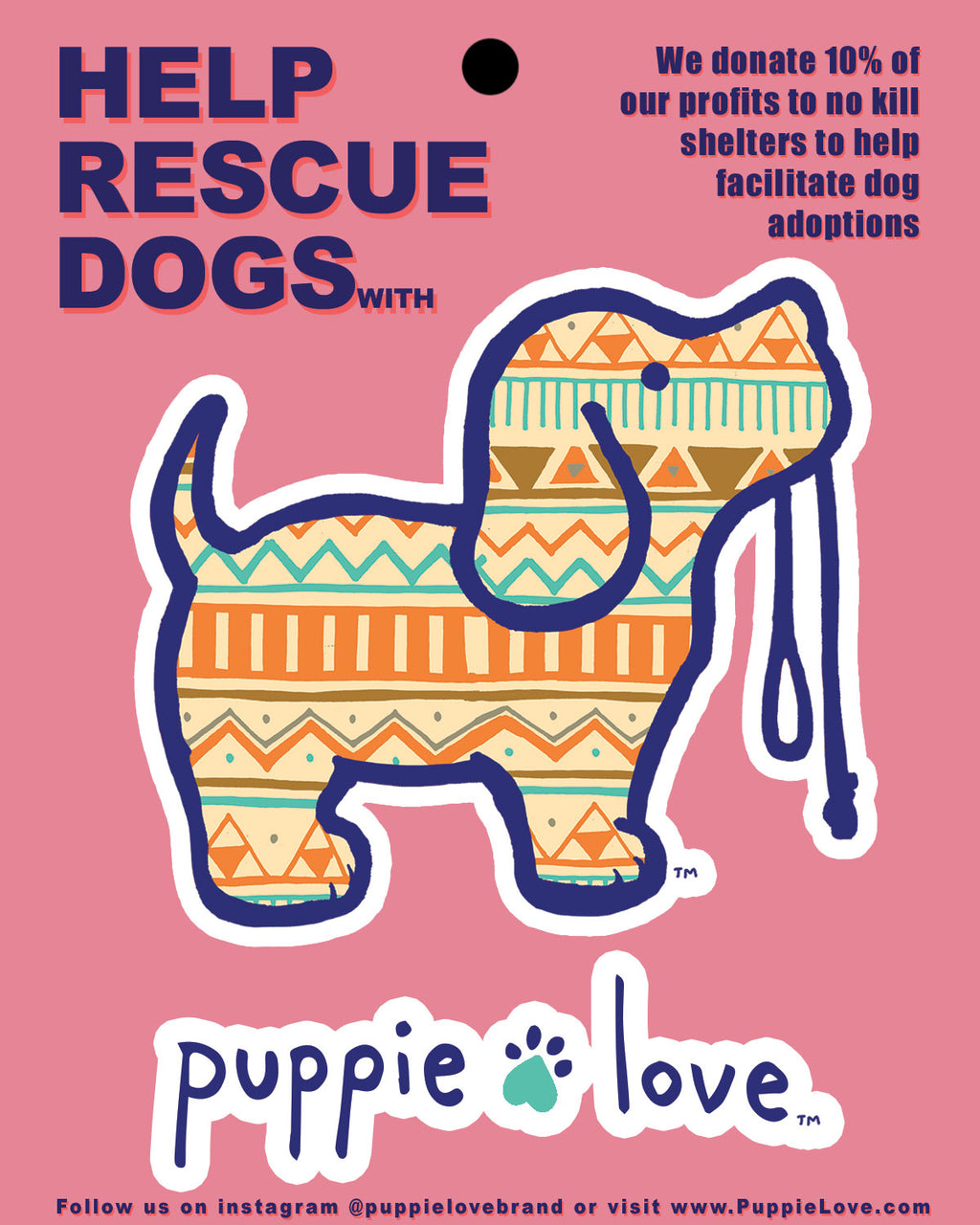AZTEC PUP STICKER - Puppie Love