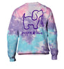 COTTON CANDY TIE DYE PUP, ADULT CREWNECK - Puppie Love